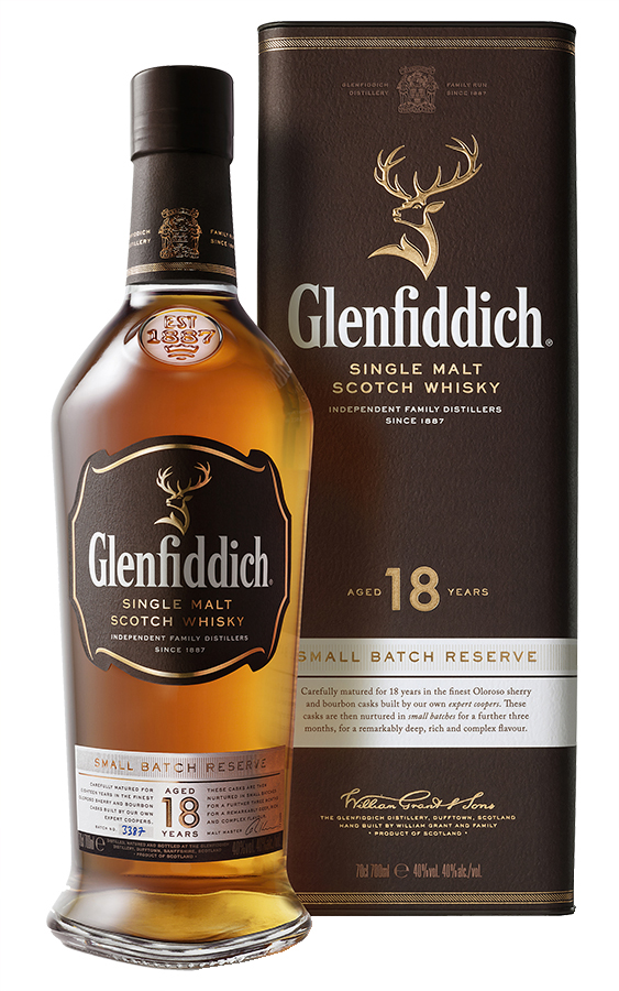 Flaska innehållande Glenfiddich 18 Year Old