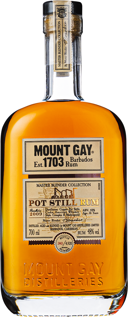 mount gay pot still rom flaska