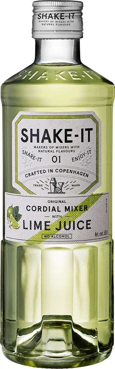 en flaska Shake-It Mixer Lime juice