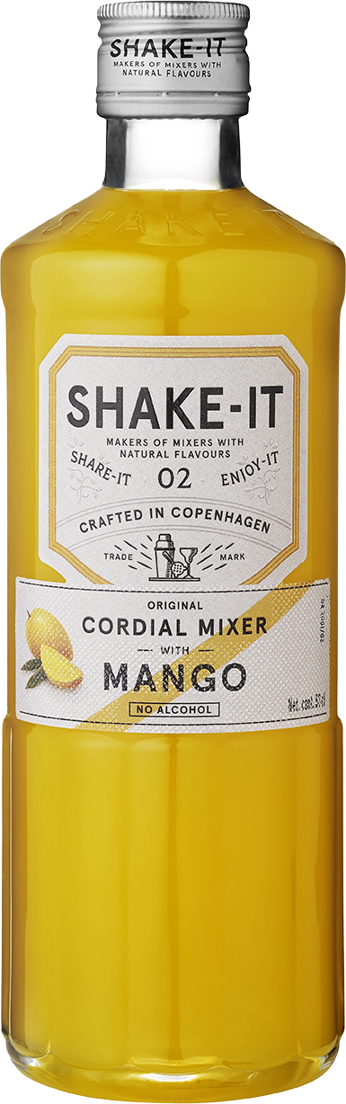 en flaska Shake-It Mixer Mango