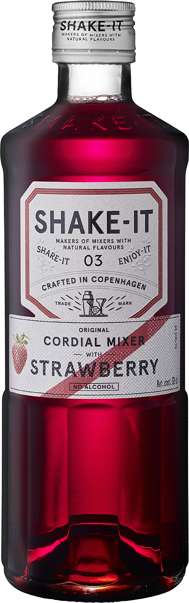 en flaska Shake-It Mixer Strawberry